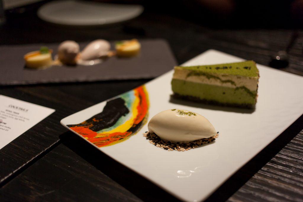 Akira Back-matcha cake