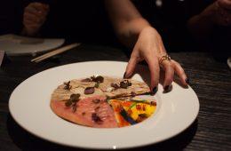 Akira Back-tuna + mushroom pizza