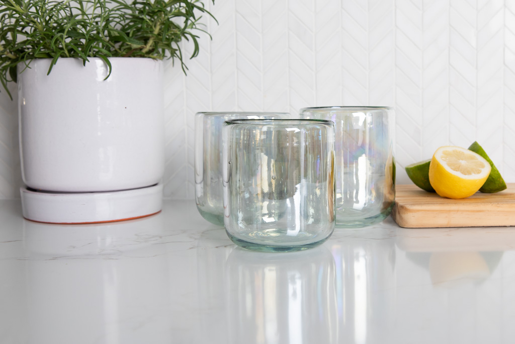 west elm recycled glasses